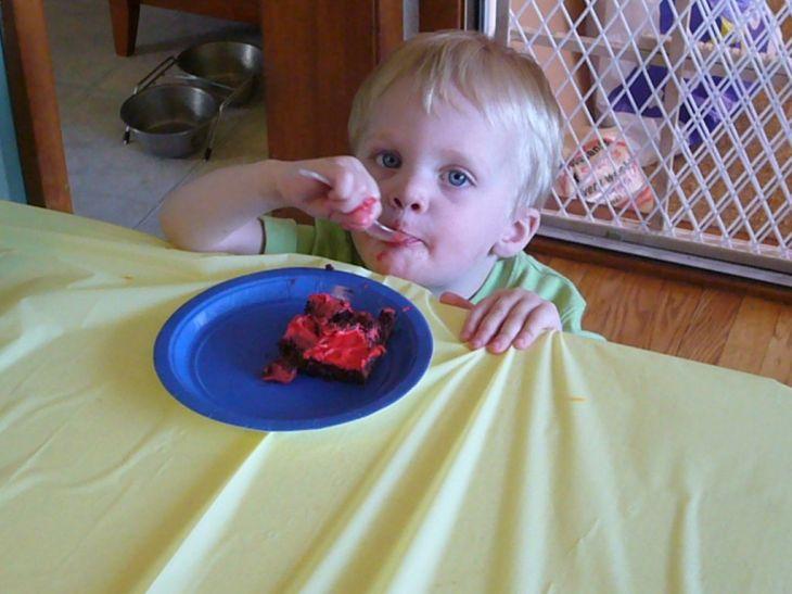 Alex with Cake