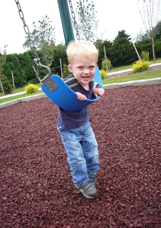 Alex on the swing
